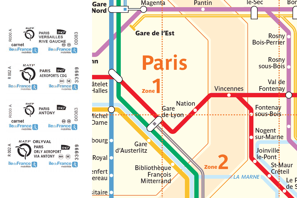 A Rer Ticket Is Known In Paris As A Billet Ile De France A Small Coupon Like Train Ticket For Paris And Surroun In 2020 Train Tickets Station To Station Ile De France