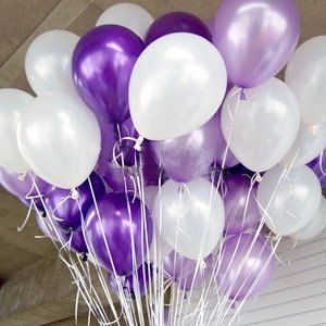 100 12 Pearl Balloons In Purple Lavendar And White Balloon Bouquet Party Supplies