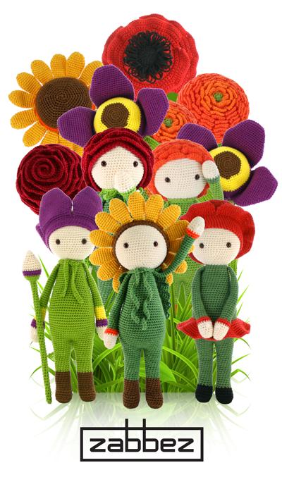 Amigurumi Flower : Zabbez flower doll family crochet and amigurumi patterns
