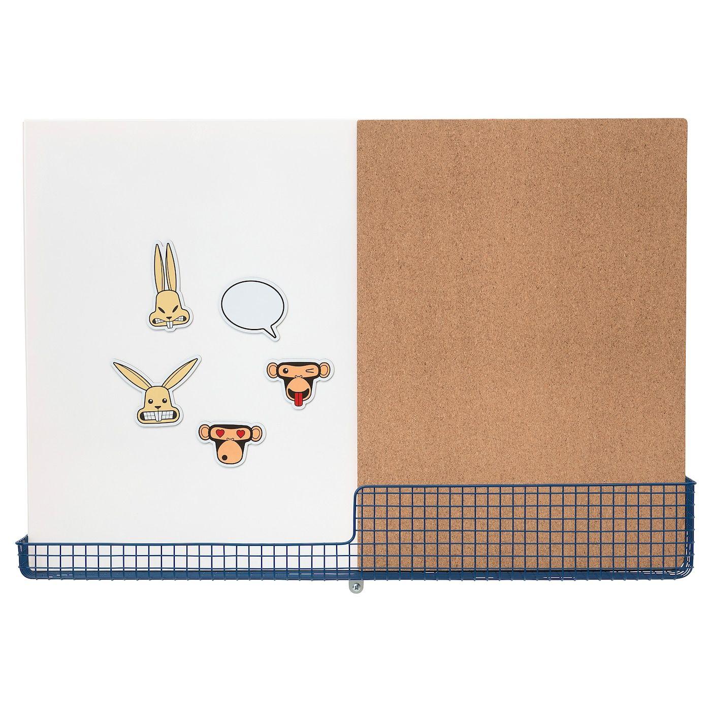Ikea Mojlighet Prikbord Whiteboard Met Bakje Wit Blauw Gecombineerd Magnetisch Whiteboard En Prik En 2020 Tableau Affichage Tableau Blanc Magnetique Tableau Blanc