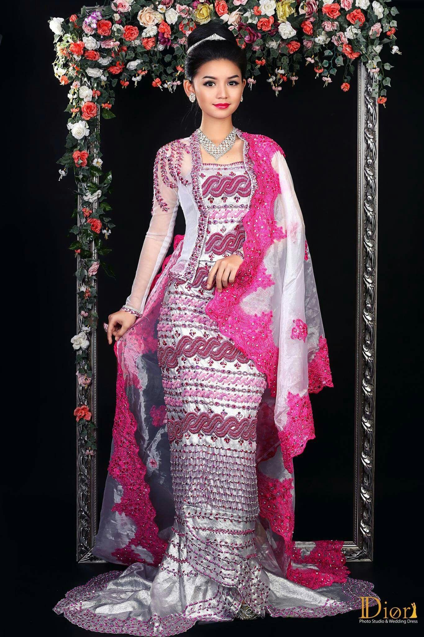 Myanmar Wedding Dress | Traditional dresses, Myanmar ...
