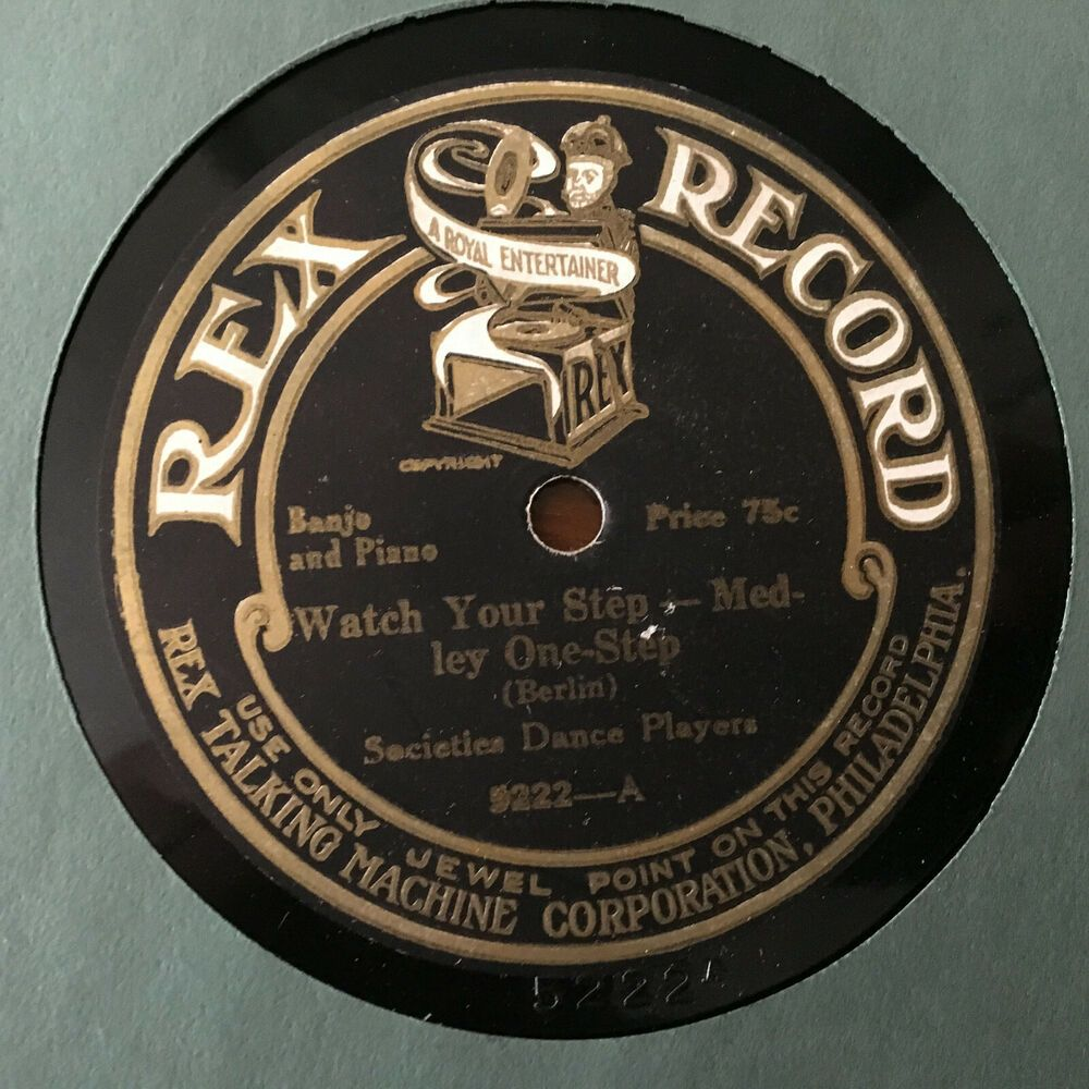 Rex Talking Machine Victrola 78 Rpm Record Early Disc Lovely Label Jewel Point 78 Rpm Records 78 Rpm Talking Machines