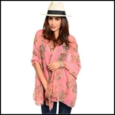 Owl pattern scarfs 30x60