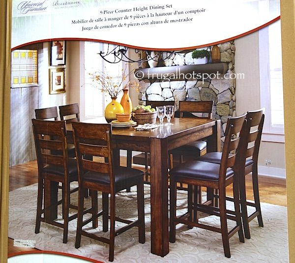 Universal Furniture Broadmoore 9 Piece Counter Height Dining Set. #Costco  #FrugalHotspot