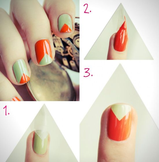 easy nail tutorial- deff. going with different colors, but the pattern seems simple enough for me!