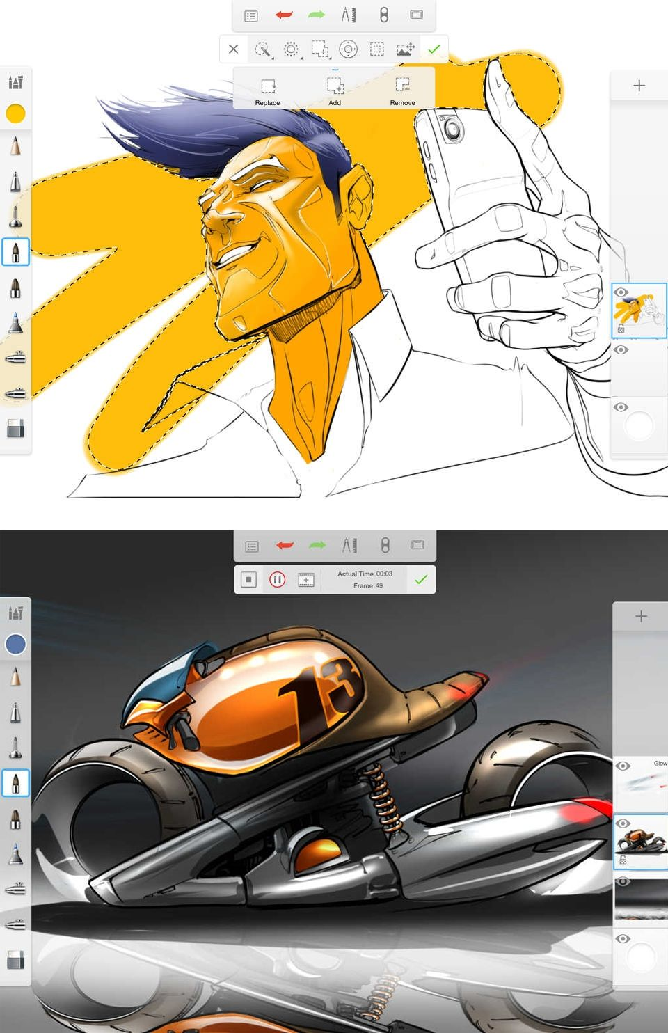5 best iPad app for artists Autodesk Sketchbook Pro