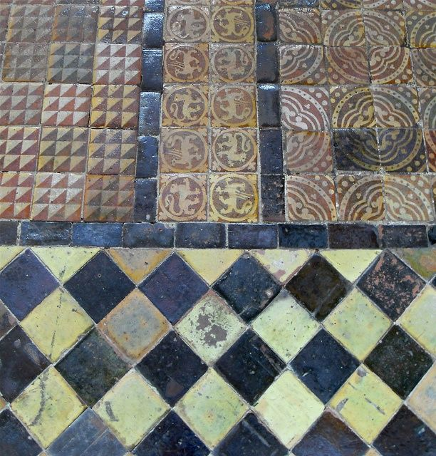 Medieval floor tiles, Winchester Cathedral | Flickr - Photo Sharing!