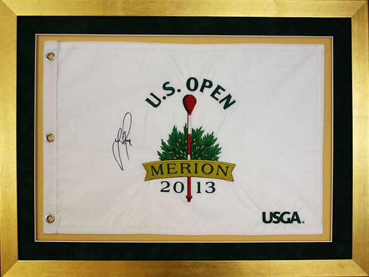 Autographed golf flag mounted in a custom picture frame! Design by ...