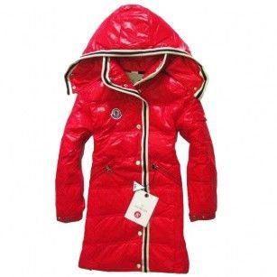 a8bec9f0d France Moncler Hooded Red Coat Moncler Kids Outlet Online | Down ...