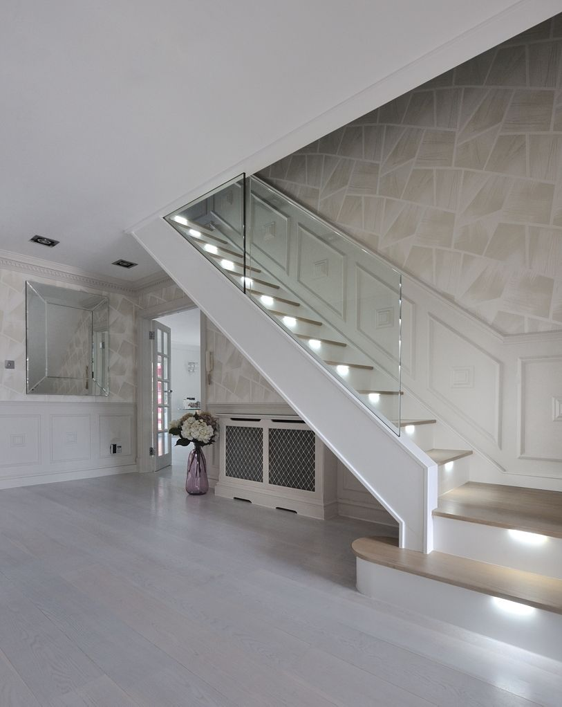 Best An Ultra Modern Staircase In Light Oak With Led Lights 400 x 300
