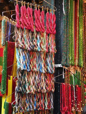 Glass beads bazaar in Kathmandu | Nepal Traditional Jewelry | Nepal