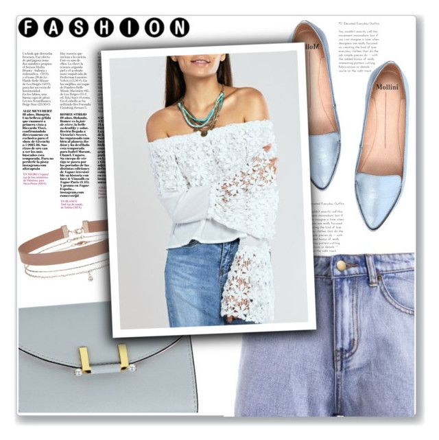 """""""#32"""" by lejla-7 ❤ liked on Polyvore featuring Mollini and Miss Selfridge"""