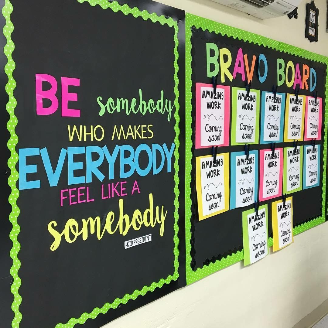Chalkboard Brights Student Work Bulletin Board Idea. Diy
