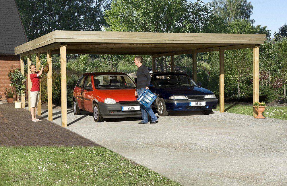 Weka carport optima deLuxe taille 2 pour clôture Amazon