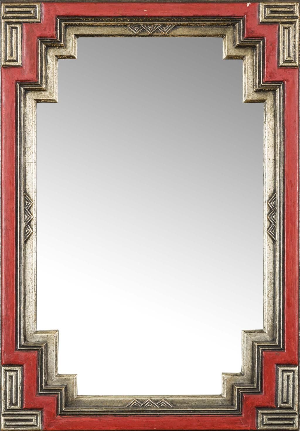 Manner Of Edgar Wood Art Deco Wall Mirror Circa 1930 Of