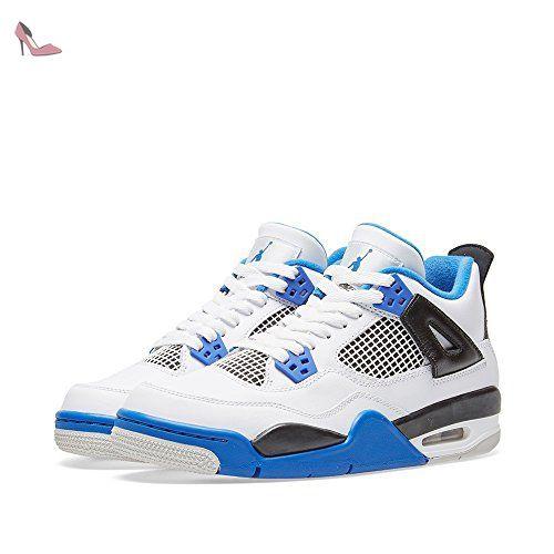 big sale 4b8e6 c3aa6 Air Jordan 4 Retro Junior Blanc 408452-117 - Chaussures nike ( Partner-