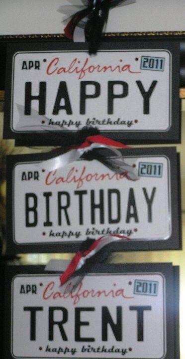 Fun and easy DIY party decoration idea. | Birthday Theme - Cars ...