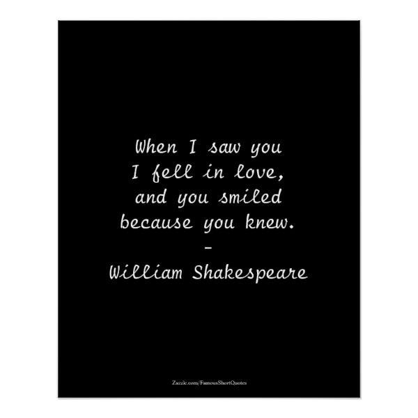 Shakespeare Quote - I Fell In Love Poster   Zazzle.com