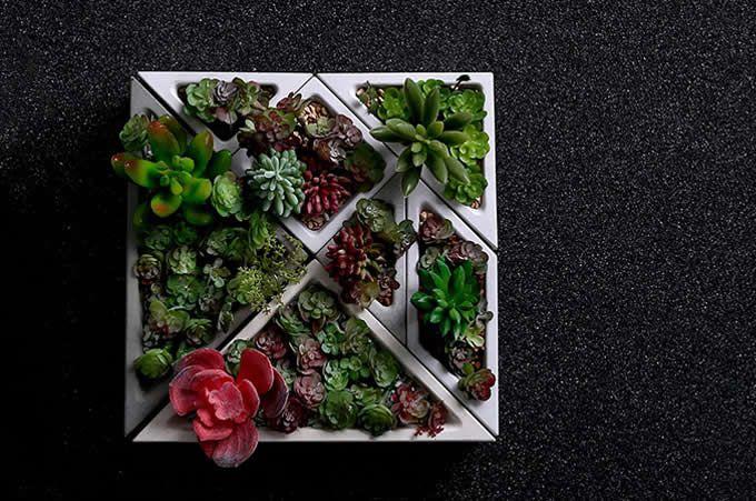 Concrete Modular Geometric Succulent Planter Plant Pot Flower Pot Flower Pots Succulent Planter Plants