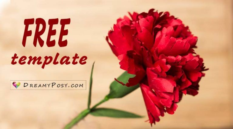 How To Make Carnation Paper Flower Free Template Easy How To Make Paper Flowers Paper Roses Paper Flowers