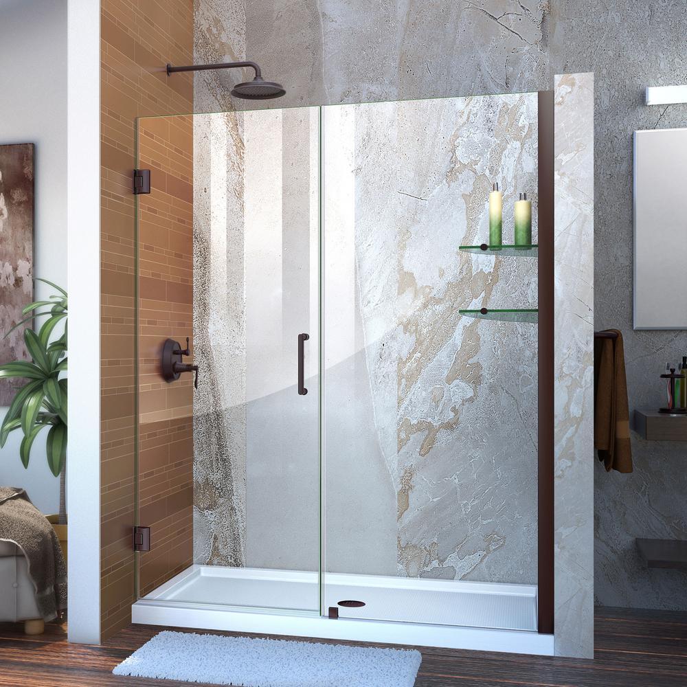 Dreamline Unidoor 60 To 61 In X 72 In Frameless Hinged Shower