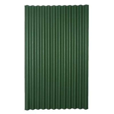 Ondura 6 Ft 7 In X 4 Ft Asphalt Corrugated Roof Panel In Green 154 The Home Depot Corrugated Roofing Roof Panels Corrugated Metal Roof