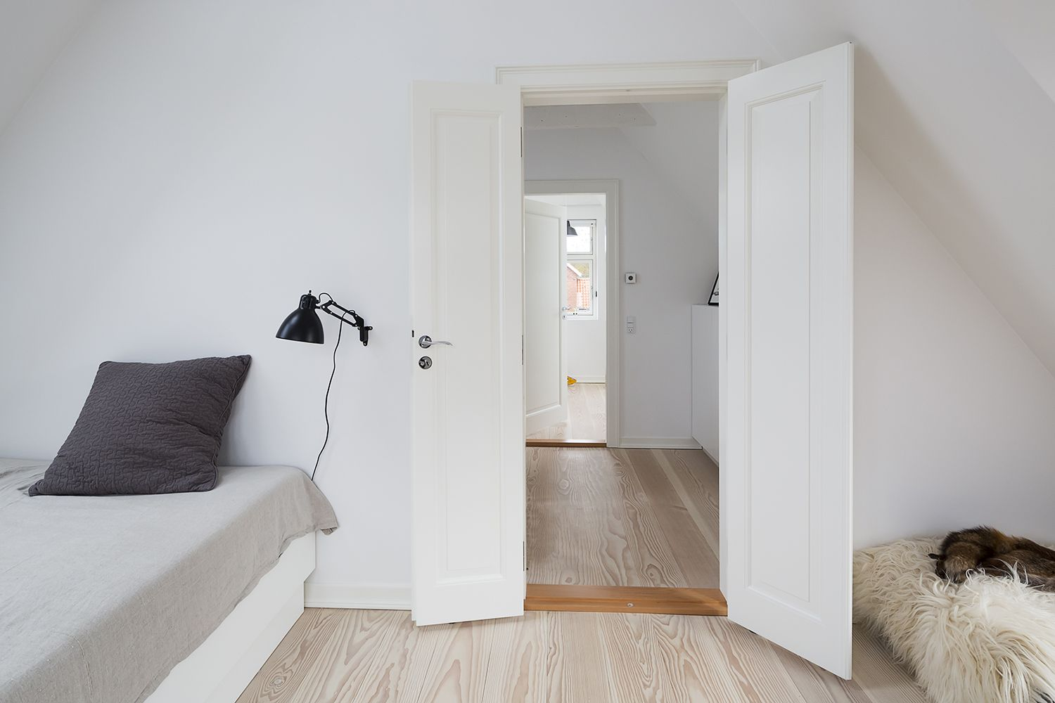 The New White Doors Only Have One Panel Which Creates A Minimalist