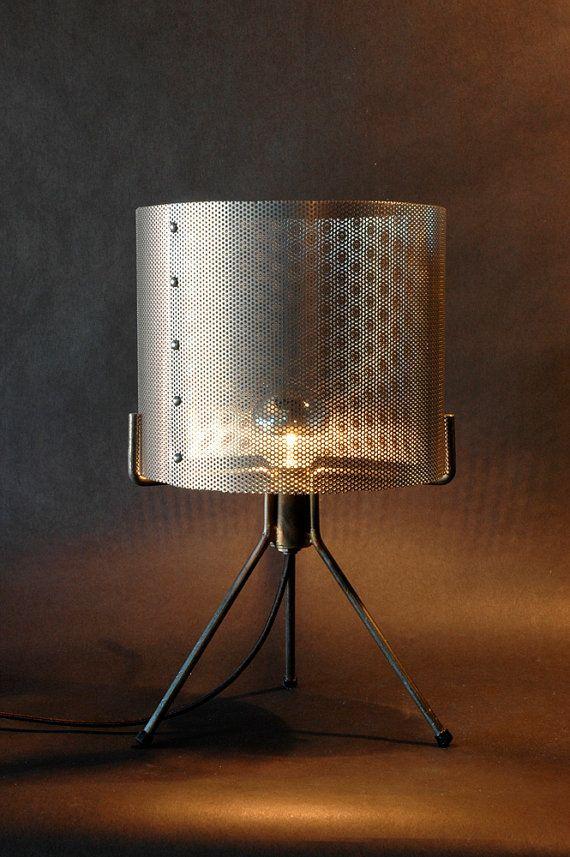 Industrial Perforated Metal Drum Shade Condo Pinterest