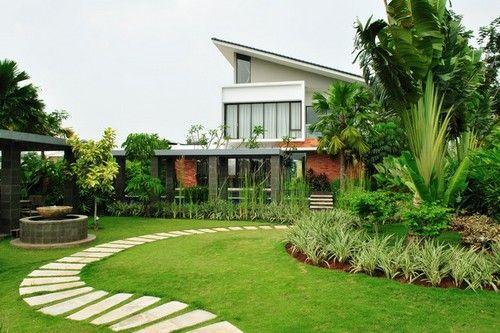 Home Garden Design Ideas India: Entradas De Casas Com Jardim