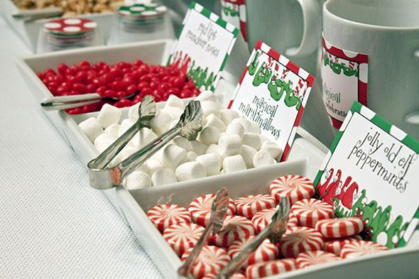 Build a Party with Enchanted Elves Cocoa bar, Elves and Holidays
