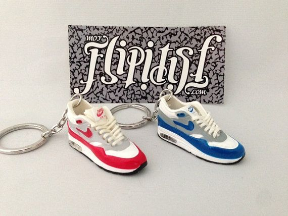 Mini sneakershoe 3d keychain Nike Air max 1 models original