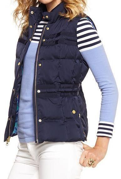 Lilly Pulitzer Resort '13- Kate Puffer Vest... finally a slimming puffer vest.