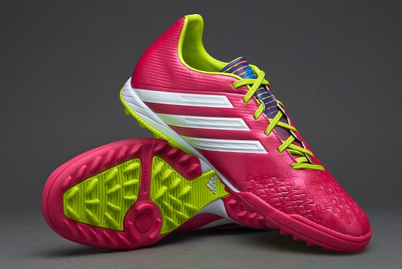adidas Football Boots - adidas Predator Absolado LZ TRX Turf - Astro Turf -  Soccer Cleats - Vivid Berry-Running White-Solar Slime 9284195b3226