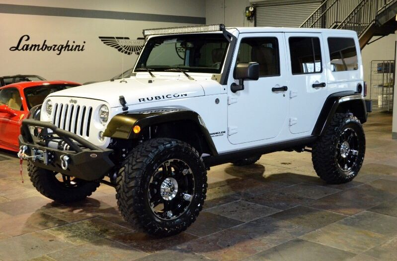 2014 Jeep Wrangler Rubicon White, 20 XD Wheels, 35 In Toyo, 3.5 Lift