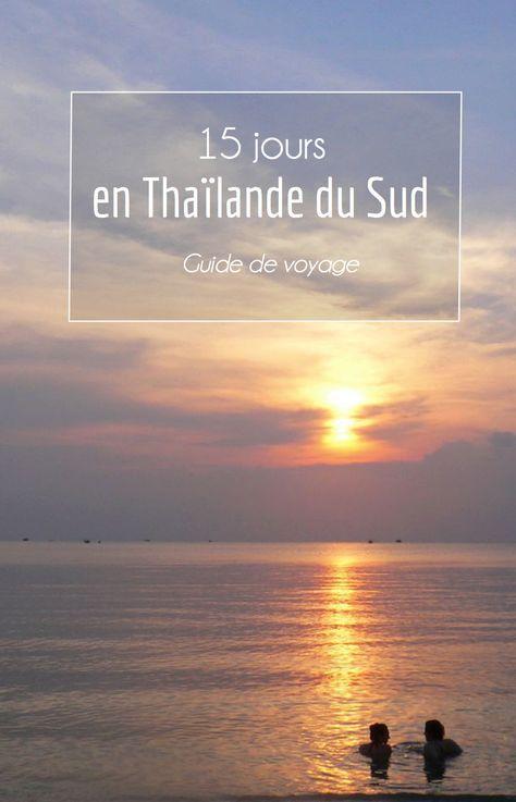 Vous préparez votre voyage en Thaïlande du sud ? C'est le moment de consulter mon mini guide à travers les îles du golfe et de la mer d'Andaman... http://www.petits-voyageurs.fr/15-jours-en-thailande-du-sud/