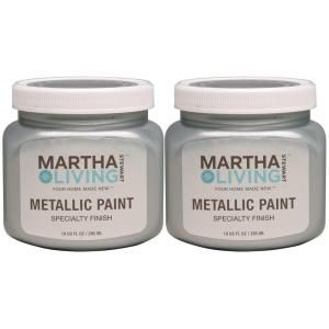 Exceptionnel Martha Stewart Living 10 Oz. Metallic Polished Silver Paint (2 Pack)