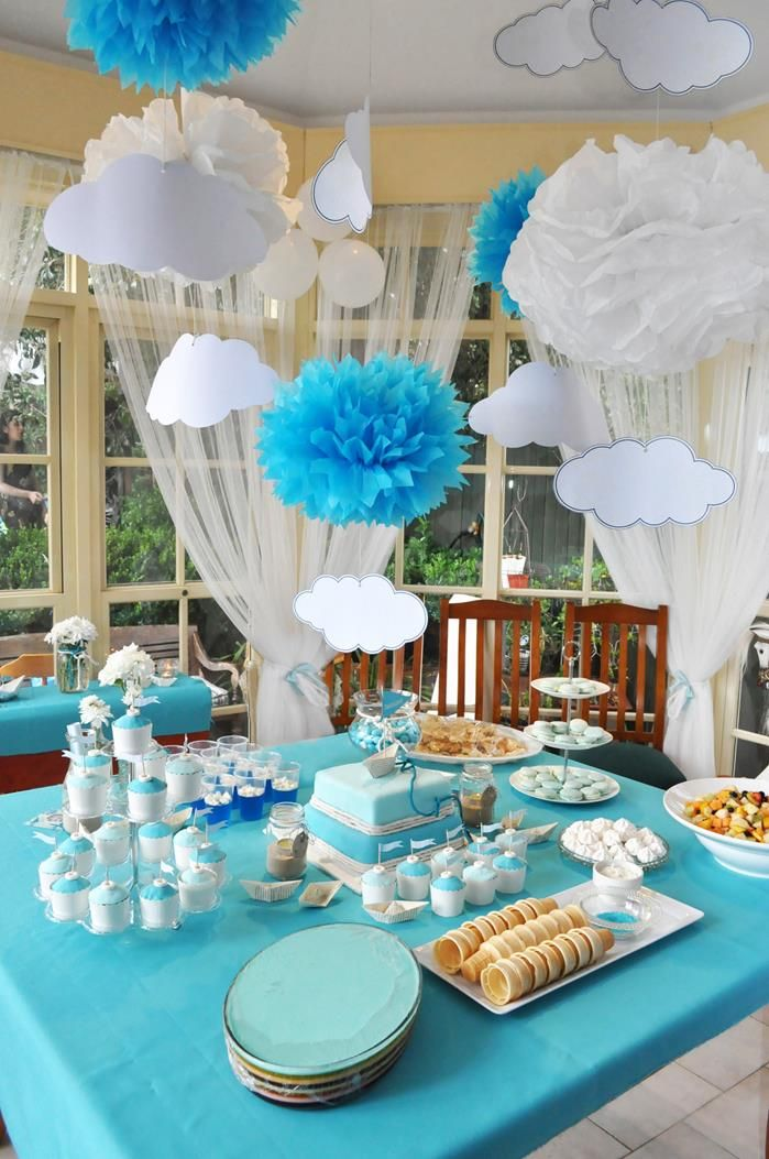 Wonderful Christening+party+decorations | Paper Boat Christening Party Via Karau0027s  Party Ideas | Kara