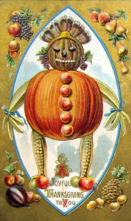 What the heck is this thing supposed to be?  Definitely skirts the line between Halloween and Thanksgiving