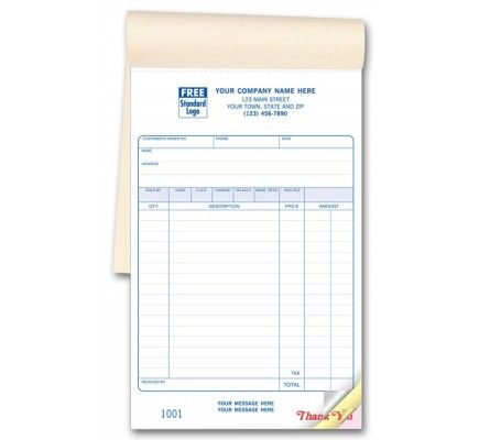 Special Wording Carbonless Custom Sales Invoice Books Sw Sales