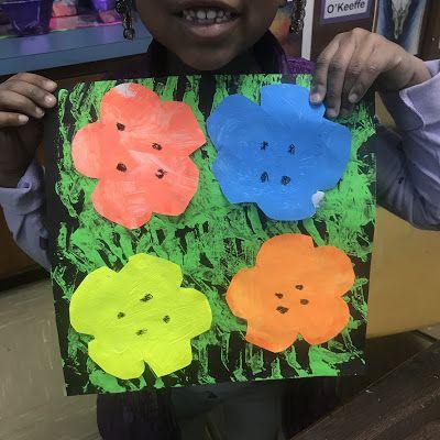 Kindergarten Andy Warhol Flowers   Spring Art Lessons   Andy warhol