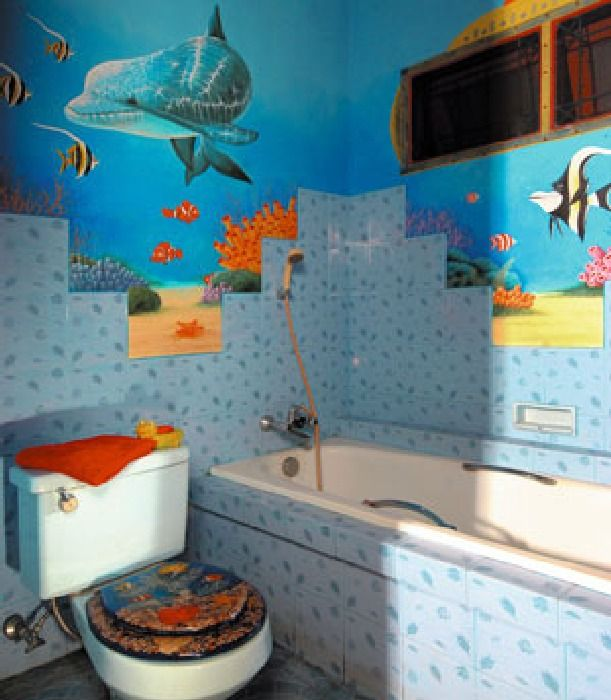 you may feel freer to use bright colors and bold decorating ideas in a kids bathroom - Bathroom Decorating Ideas For Kids