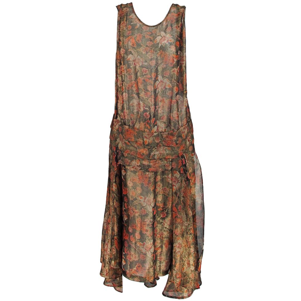 Early s silk floral lame evening gown s gowns and silk
