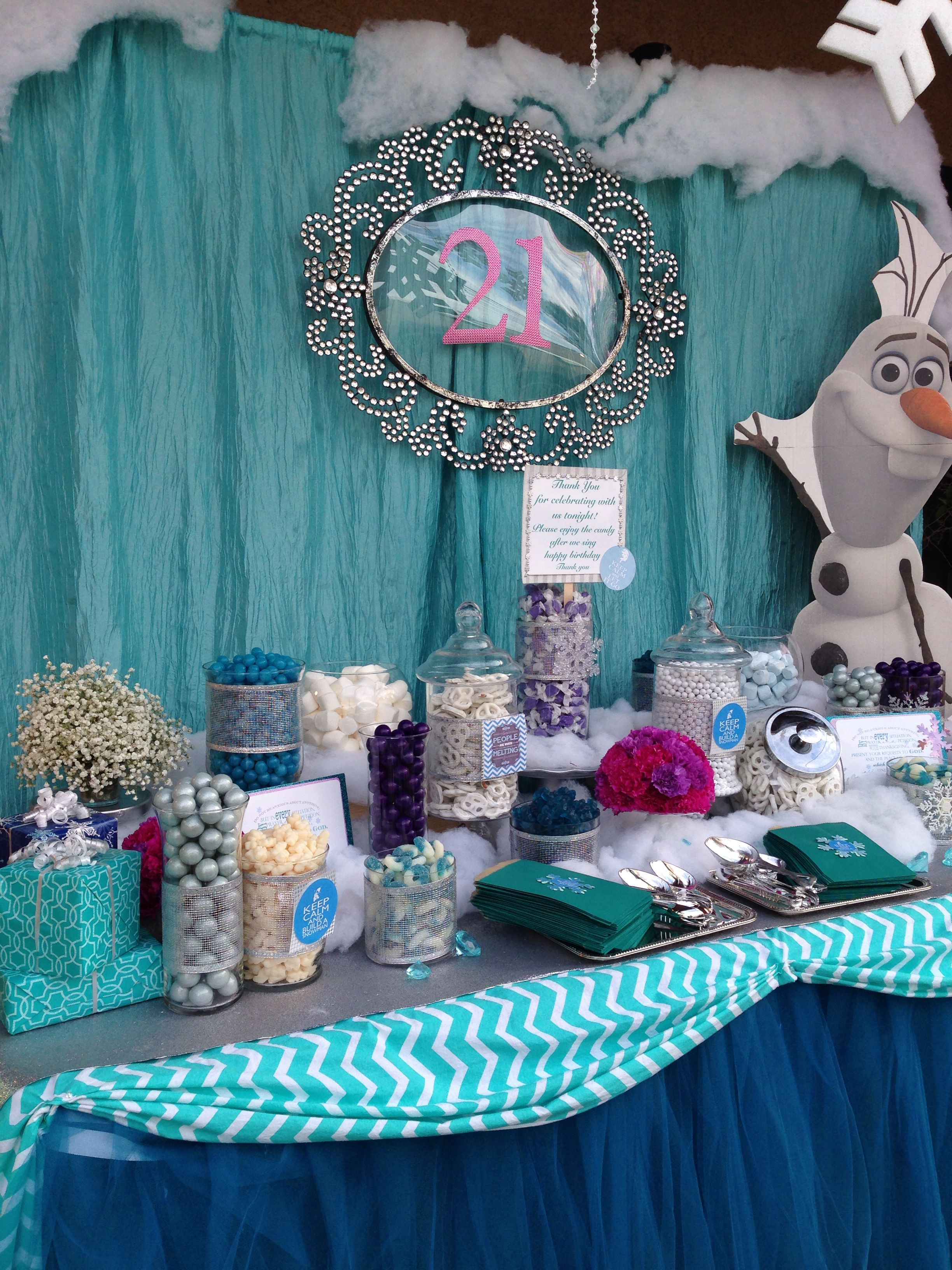 Frozen Theme Candy Table Modern Baby Shower Games Funny Baby Shower Games Frozen Theme Party