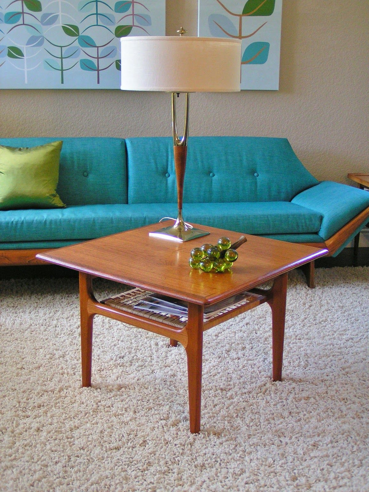 Mid Century Danish Modern side end coffee table by Troih