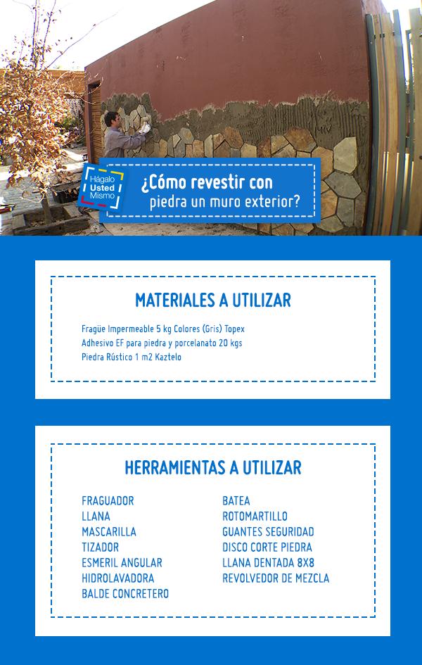 Dale vida a los espacios de tu hogar con este proyecto. Aprende a revestir con piedra los muros de exterior en el siguiente Hágalo Usted Mismo #Sodimac #Homecenter #Hum