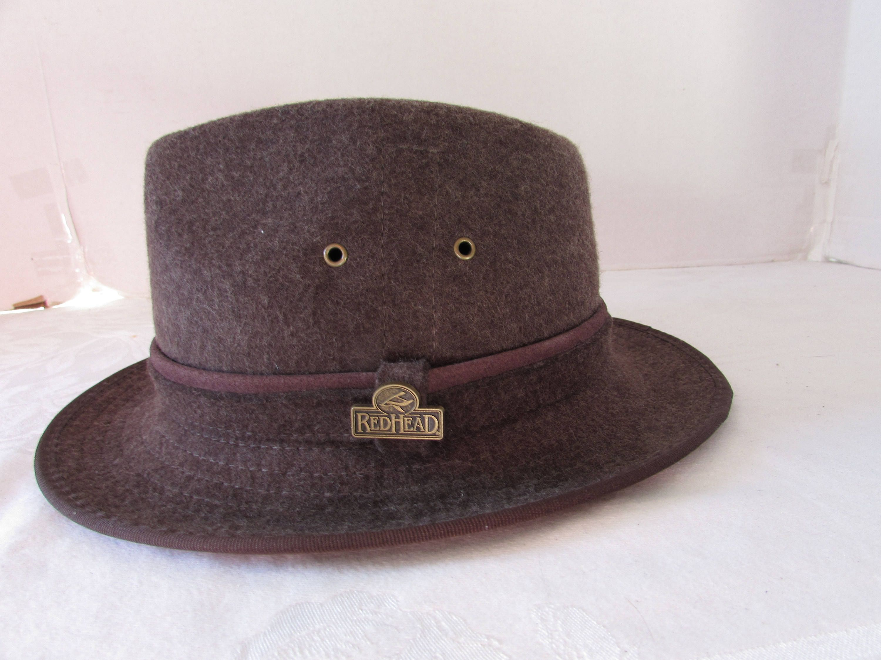 Brown Wool Hat   Fedora unisex REDHEAD Brand size small by  WHOLESALEtoEVERYONE on Etsy 55e5145942a