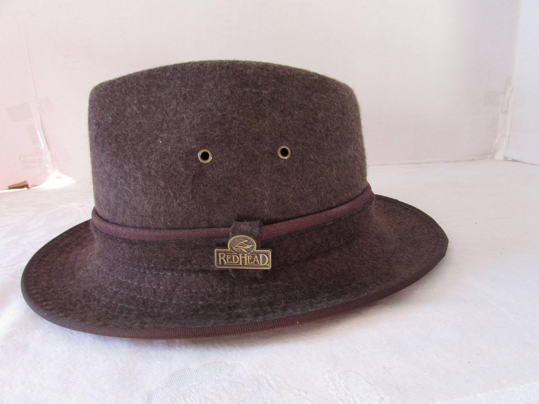 Redhead wool fedora hat