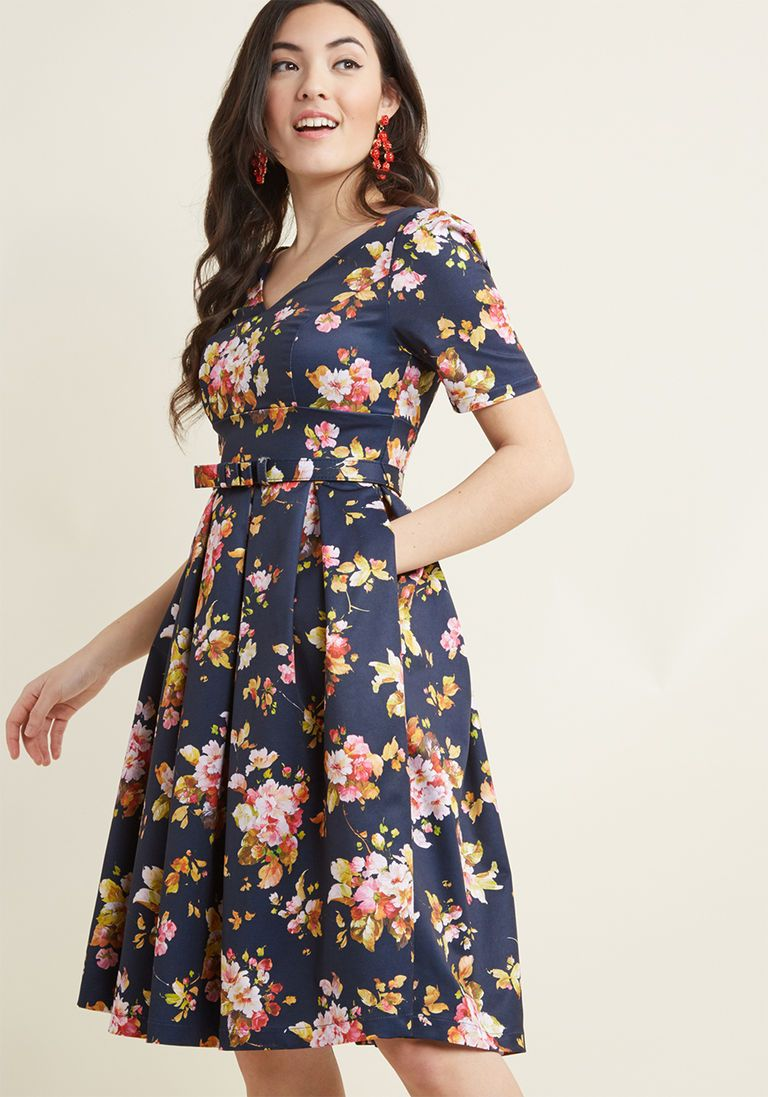 Elegant Instance Fit And Flare Dress Flare Dress Fit Flare Fashion