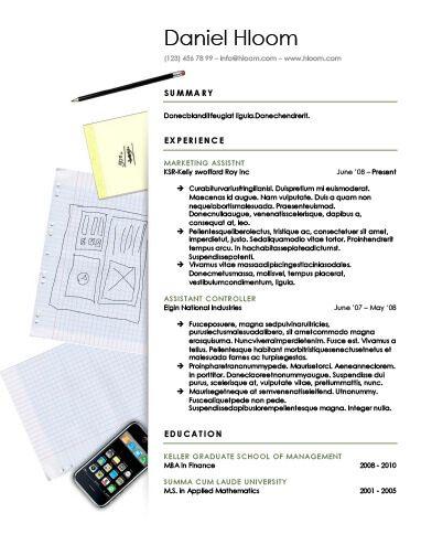 Chronological Resume by Hloom Creative Pinterest