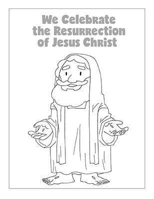 Come Follow Me- Home Study Helps. Easter Coloring Page